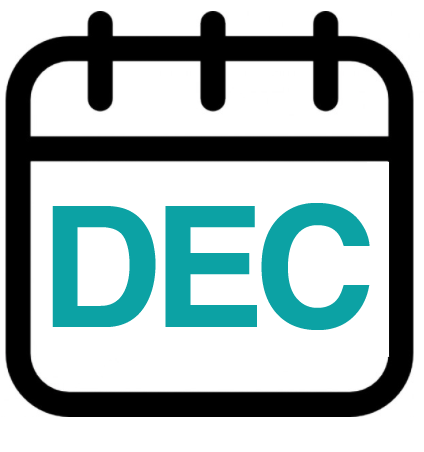 Calendar graphic showing DEC