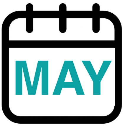 calendar graphic showing MAY