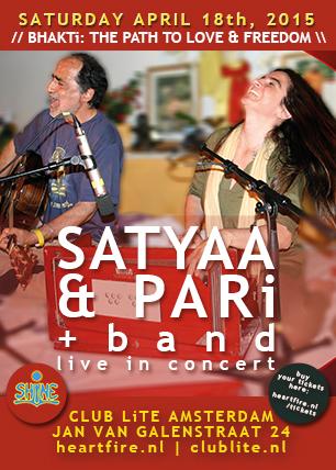 Satyaa & Pari + Band Live in Concert Club Lite Amsterdam, april 18th