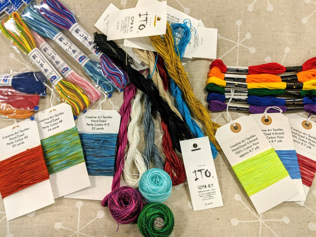 Blue Bar Quilts hand stitching thread
