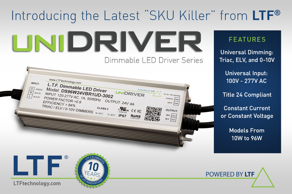 The UniDriver Series by LTF - Universal Input, Universal Dimming