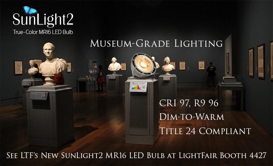 LTFs Museum-Grade SunLight2 True-Color MR16 LED Bulbs