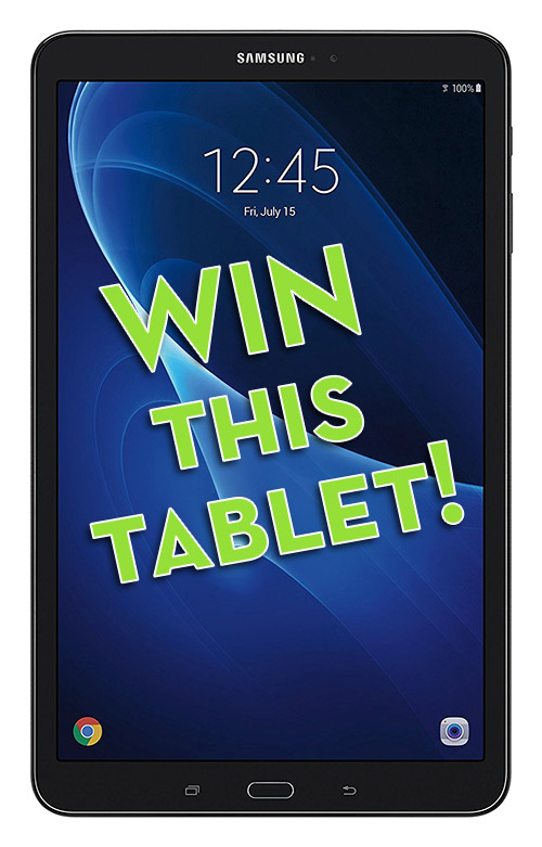 Your Chance to Win a 32GB Samsung Galaxy Tab A