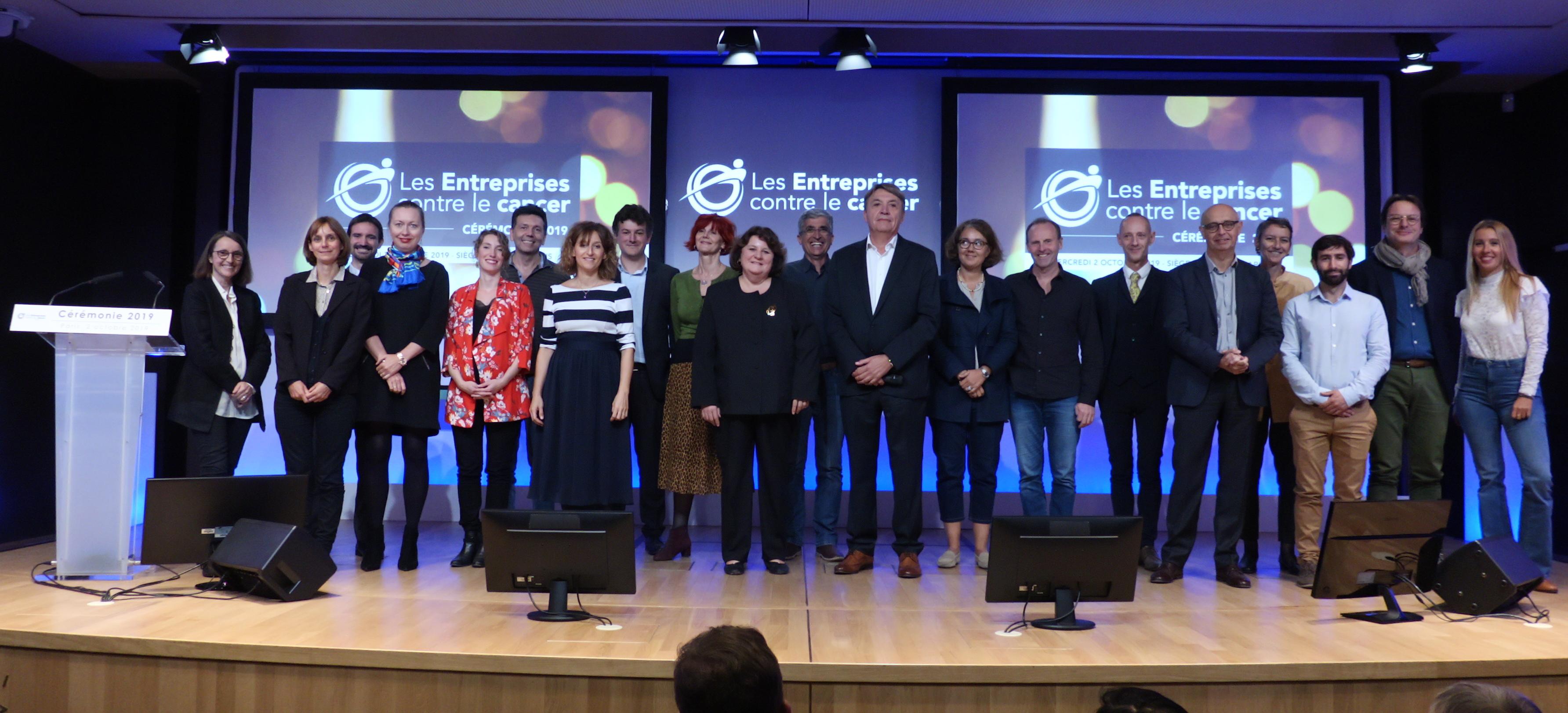 Les lauréats 2019 des Entreprises contre le Cancer