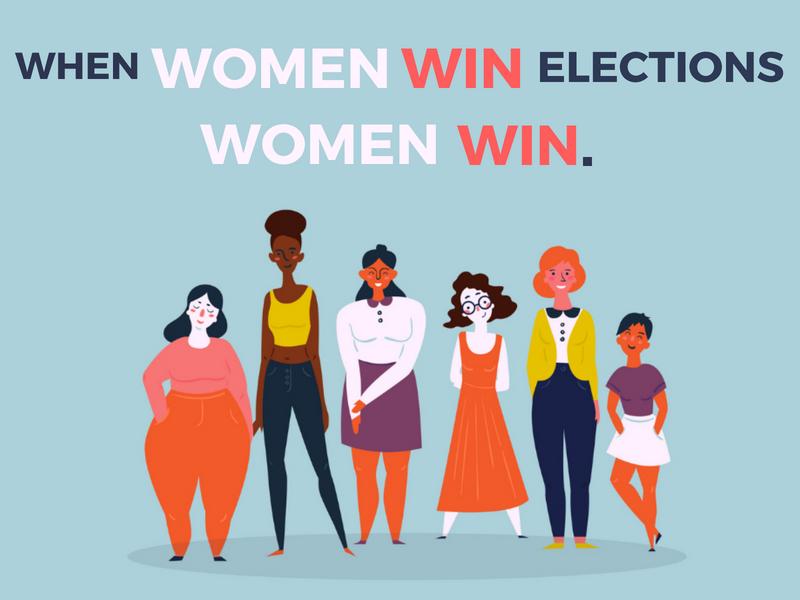 When women win elections, women win