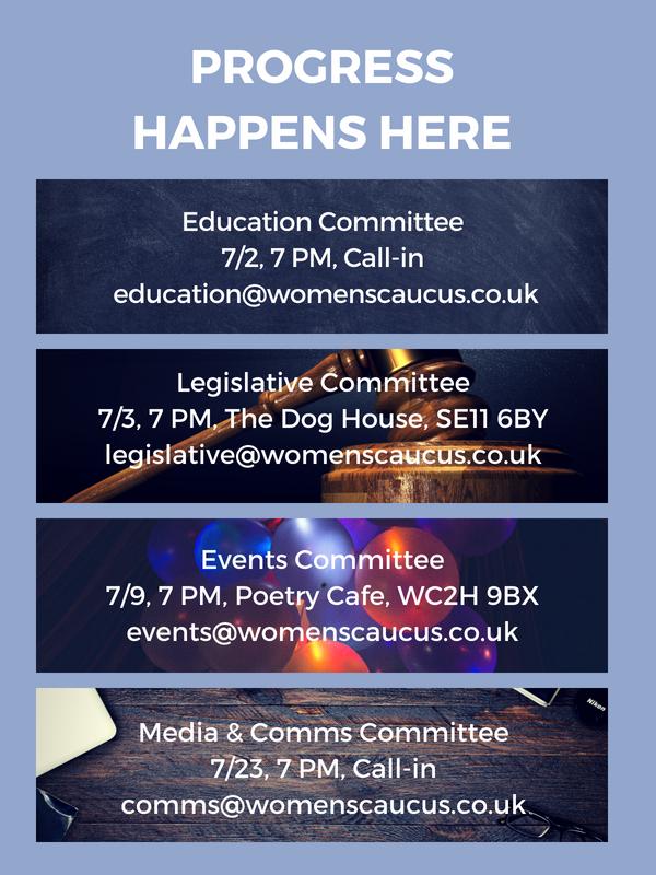 July Committee Meetings - Visit our Google Calendar