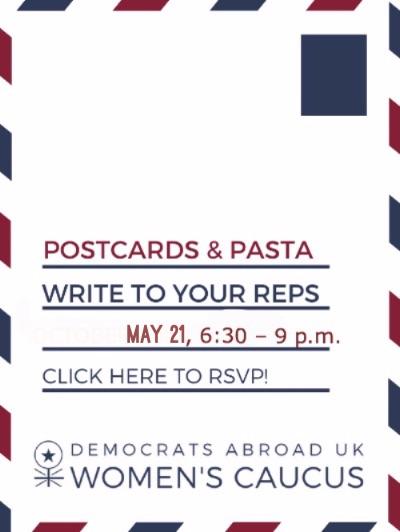 Laura's Postcard &Pasta Social May