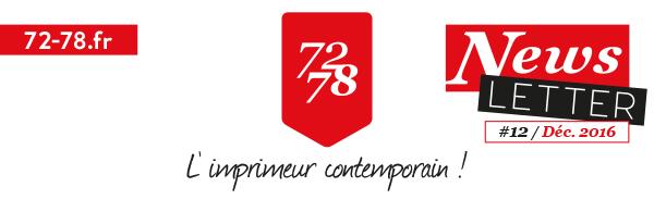 Newsletter 72/78 - L'imprimeur contemporain !