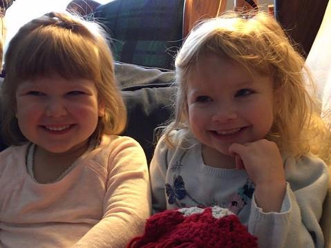 Eva Joy and her cousin, Bethany