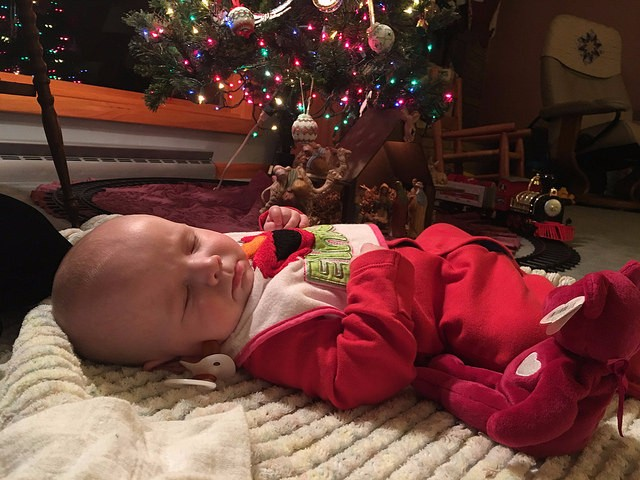 Look at this gift under Grandma Berni's Christmas tree!
