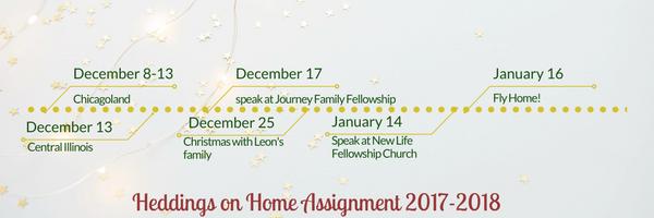 Dec-January Itinerary