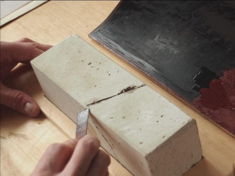 Repair broken Natural Waterstone with Urushi