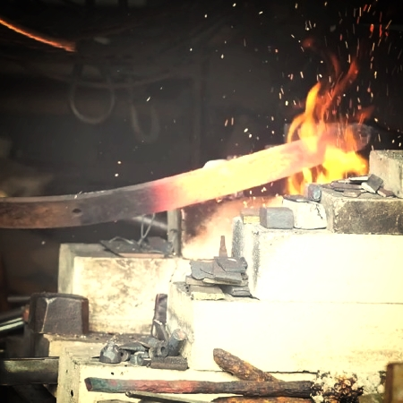 Video: Sounds of the Workshop, Creating a Tanto Blade