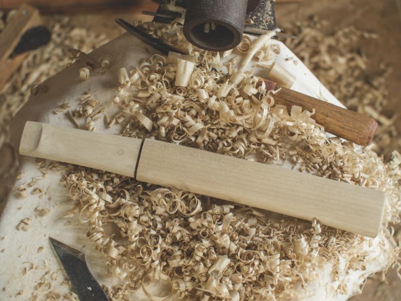 Process: Carving the Tsuka & Saya – Aikuchi Tanto Koshirae
