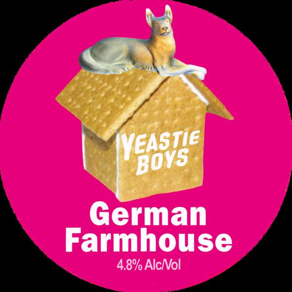 Yeastie Boys: German Farmhouse (keg badge)