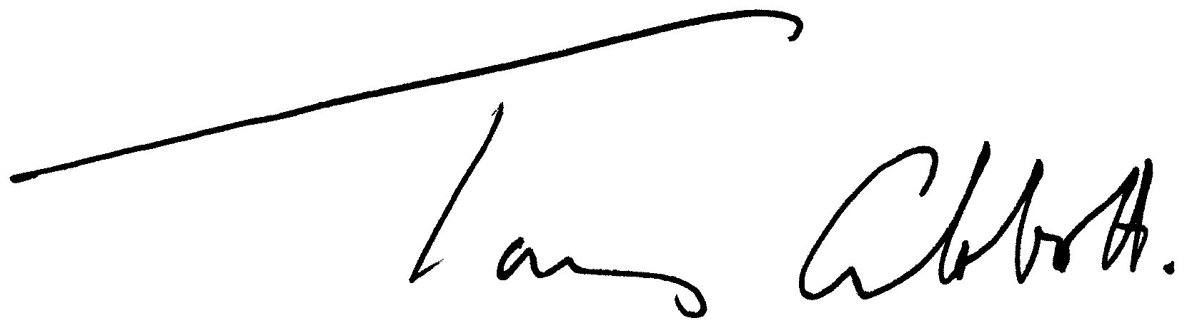 Tony Abbott signature
