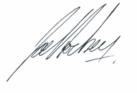 Joe Hockey signature