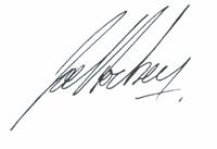 Joe Hockey signature
