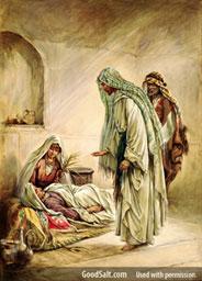 Jesus healing Peter's mother-in-law