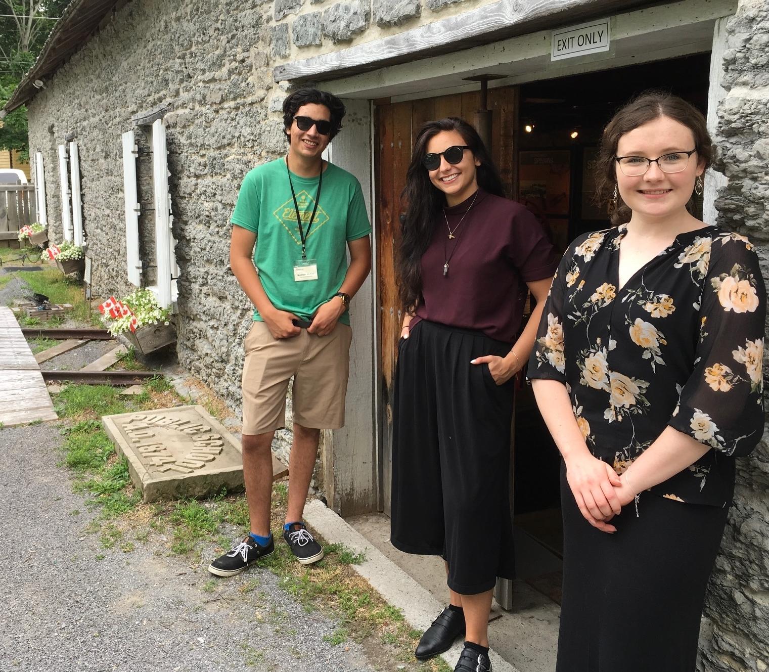 Three young summer staff