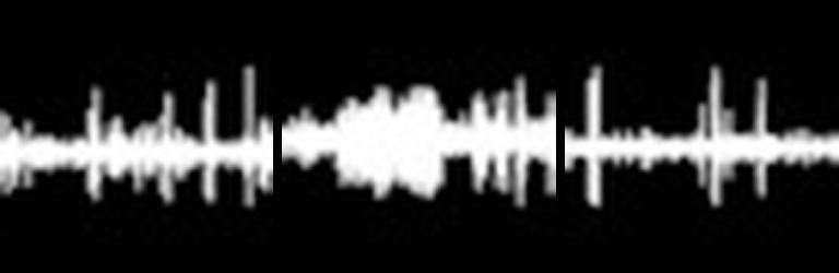 Audio recordings sound wave
