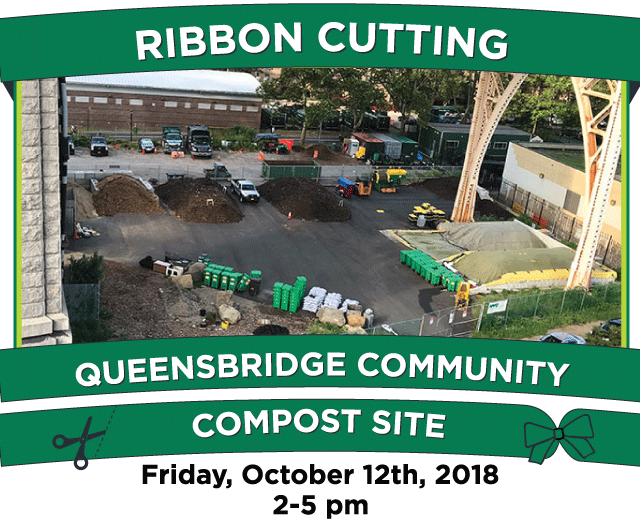 Ribbon Cutting at Queensbridge Community Compost Site