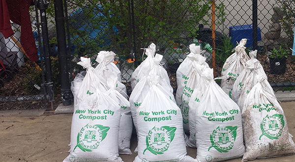 Bags of NYC Compost
