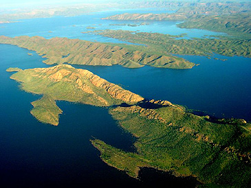 Lake Argyle aerial view