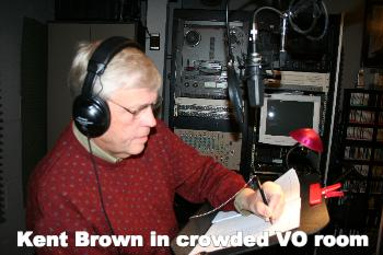 Kent Brown in crowded VO room
