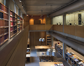 Reference Library, Yale Center for British Art, photo by Richard Caspole