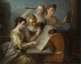 Philippe Mercier, The Sense of Sight, 1744 to 1747, oil on canvas, Yale Center for British Art, Paul Mellon Collection