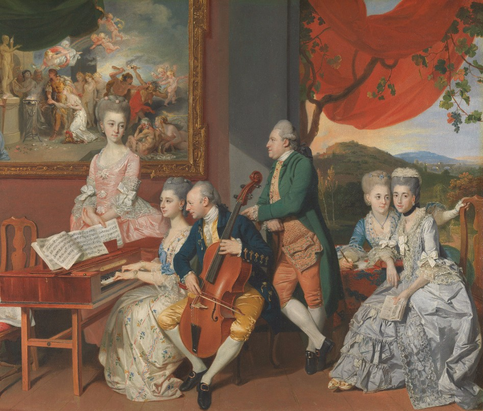 Johan Joseph Zoffany, The Gore Family with George, third Earl Cowper, 1775, oil on canvas, Yale Center for British Art, Paul Mellon Collection