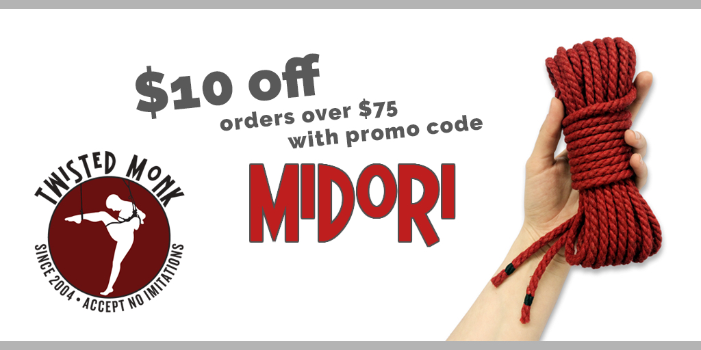 Twisted Monk $10 discount code Midori