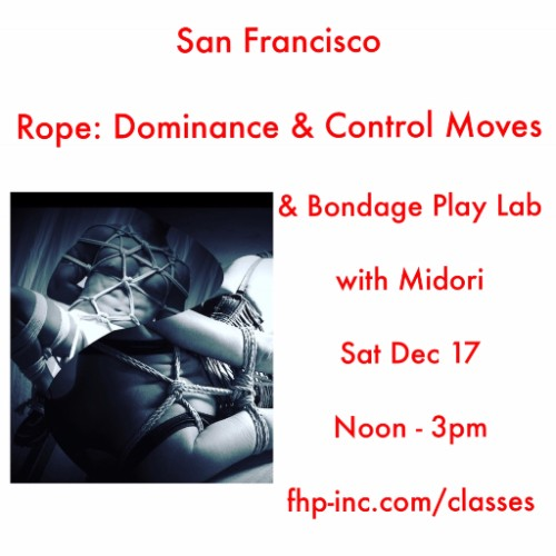 San Francisco 12/17 flyer for Rope Dominance & Control Moves