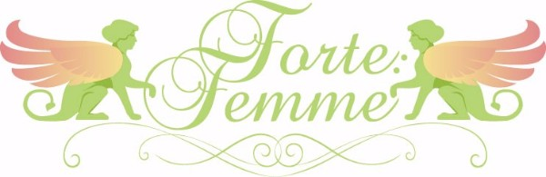 ForteFemme logo of two sphynx and text ForteFemme