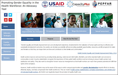Promoting Gender Equality in the Health Workforce
