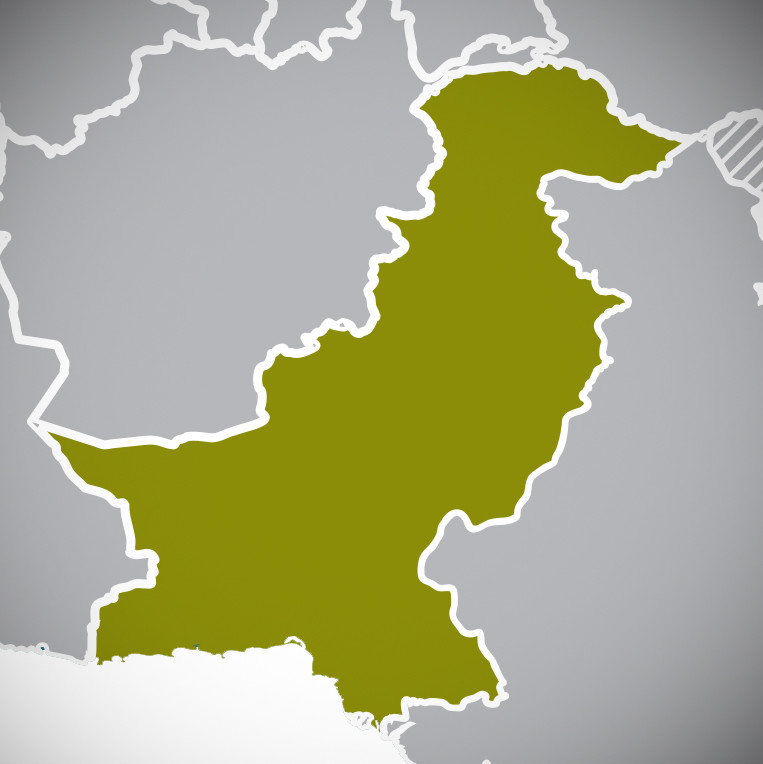 Map showing Pakistan