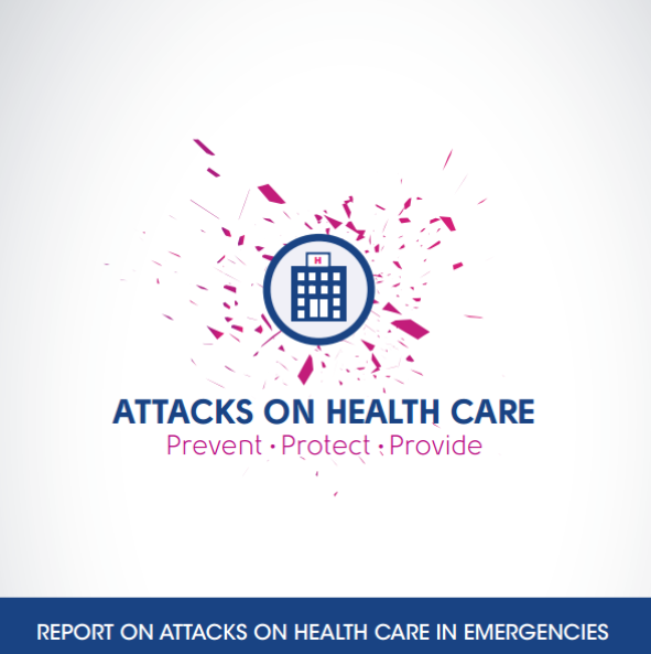 Cover of WHO's report on attacks on health