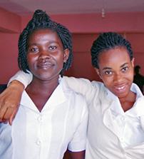 Health students in Ghana