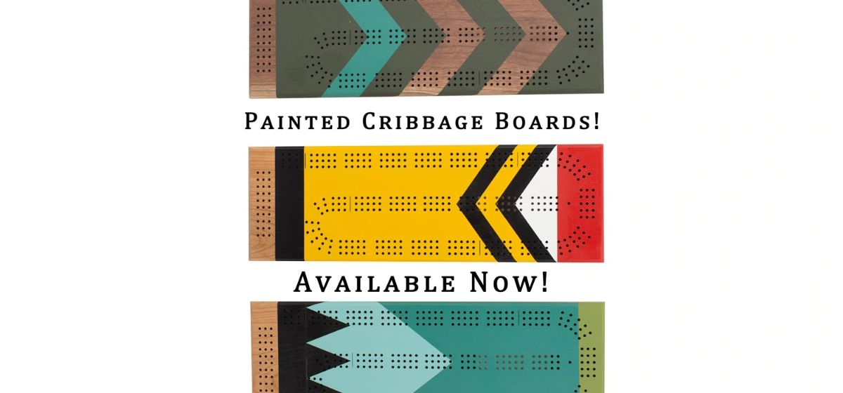 Painted Cribbage Boards