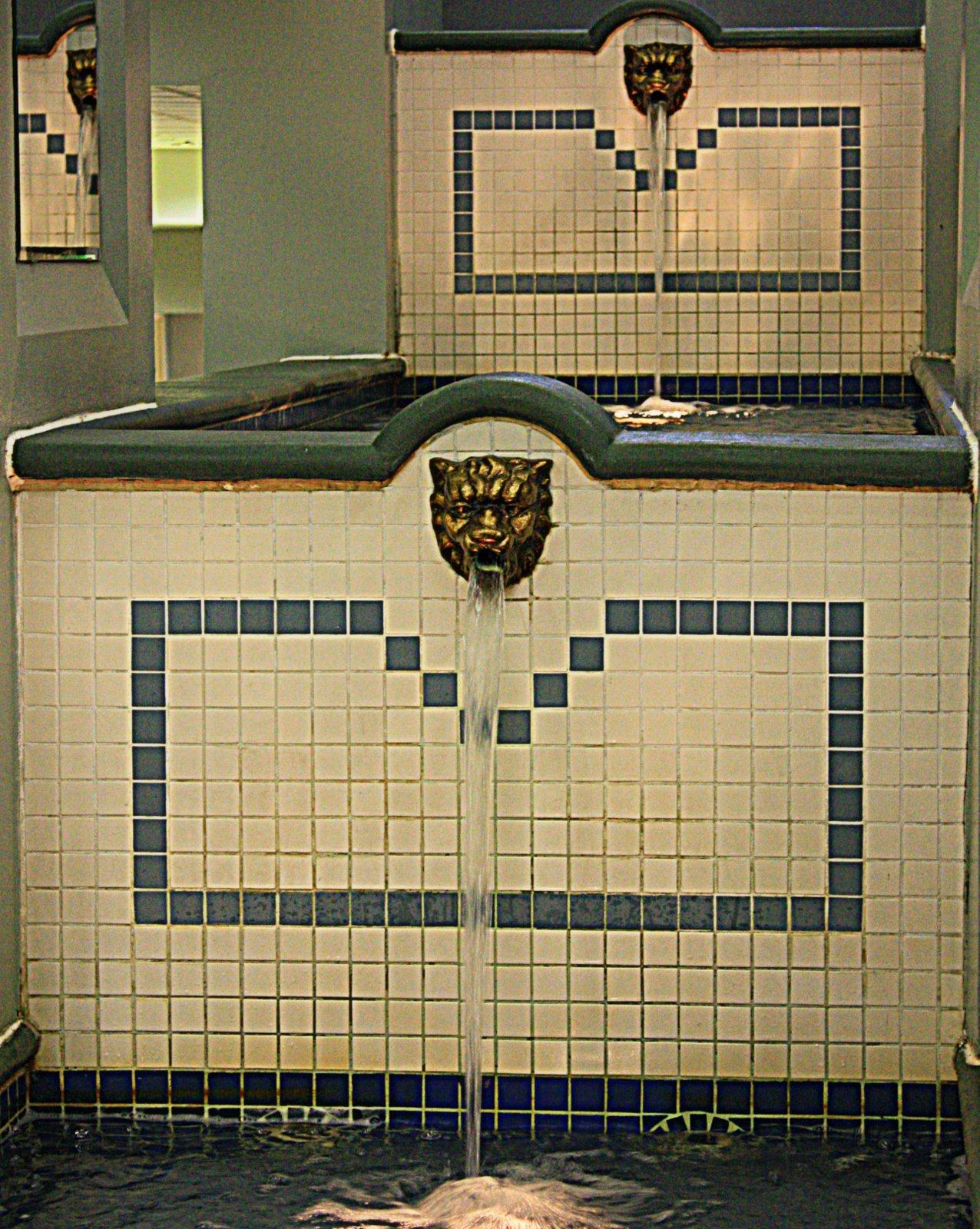 Bay Centre interior fountains