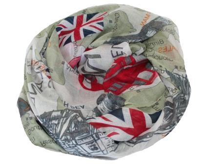 Køb tørklæde med England og Union Jack online