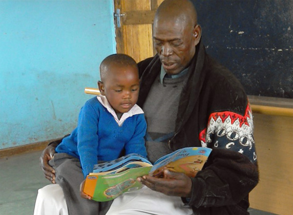 Lesotho: Tapping Local Leaders and Caregivers, Book Sharing to Improve Children's Nutrition, Education, and Health {Photo: BLC staff/MSH}