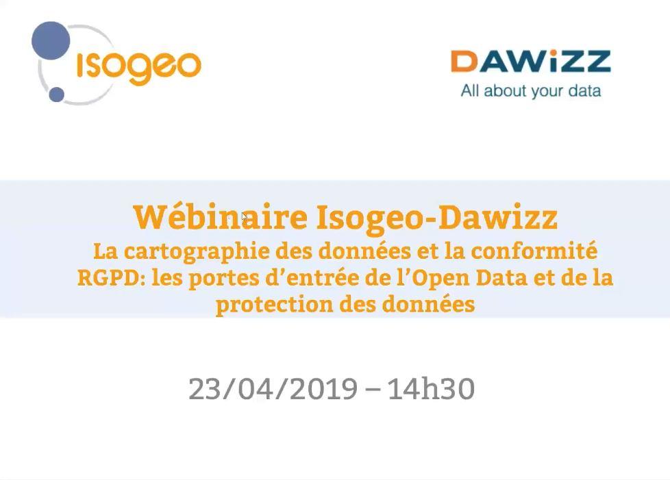 Webinaire Isogeo - Dawizz sur la cartographie des données et la conformité RGPD