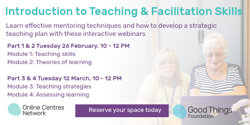 Introduction to Teaching & Facilitation skills. Learn effective mentoring techniques and how to develop a strategic teaching plan with these interactive webinars. Part 1 & 2 Tuesday 26 February, 10 - 12pm. Part 3 & 4 Tuesday 12 March, 10 - 12pm. Reserve your space today