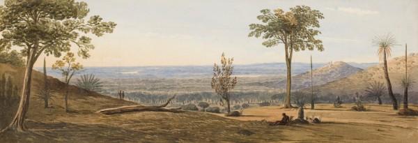 Frederick Garling, View across the coastal plain