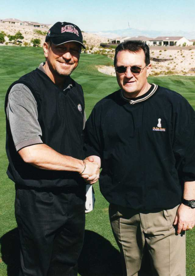 Greg at Rudy Ruteger Celebrity Golf Tournament in 2008