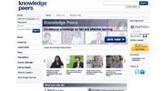 Knowledge Peers' new look homepage