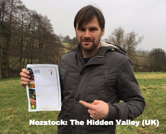 Rob Nosworthy receives Nozstock Award