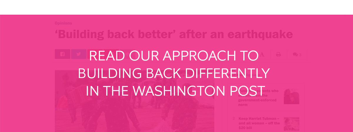 Read our approach to building back differently in The Washington Post
